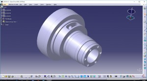 Модель детали в CATIA (Gear Drive END.CATPart)